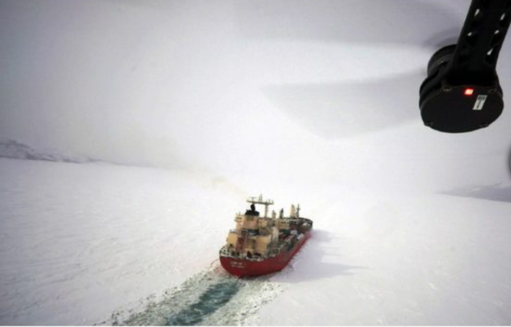 Icebreaker from Drone